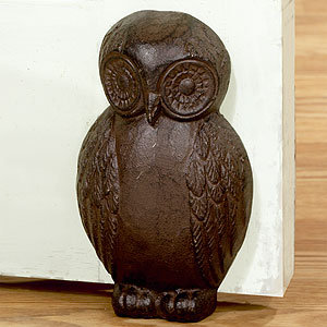 Cast Iron Owl Doorstop