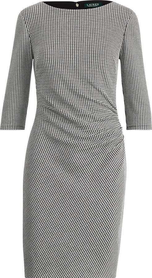 Ralph Lauren Knit Jacquard Sheath Dress