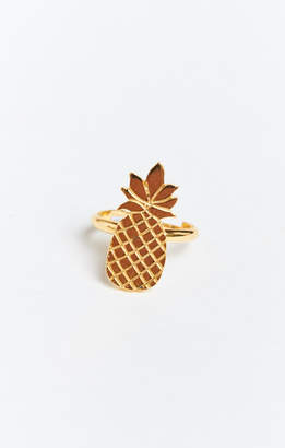 MUMU Gold Plated Pineapple Ring ~ Gold