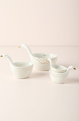 Anthropologie Set of 4 Gaggle of Geese Measuring Cups