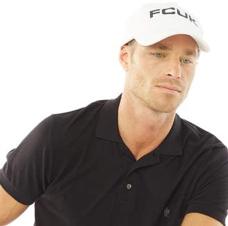 French Connection Mens Bold Washed Cotton Cap White
