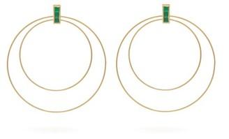 Ileana Makri Double Orbit Emerald & 18kt Gold Earrings - Womens - Yellow Gold