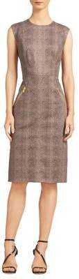 DKNY Printed Sheath Dress