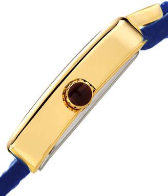 Bruno Magli 28mm Emma Trapezoid Double-Wrap Watch, Blue/Gold