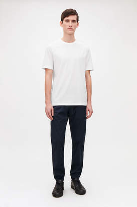 Cos T-SHIRT WITH RIB NECK