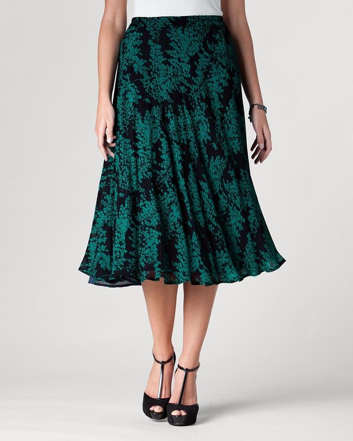 Leaf reversible skirt