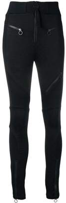 Versace zip-detail biker leggings