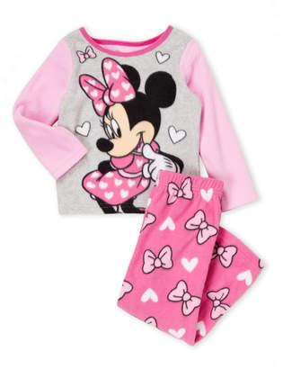 (Toddler Girls) Two-Piece Minnie Mouse Fleece Pajama Set