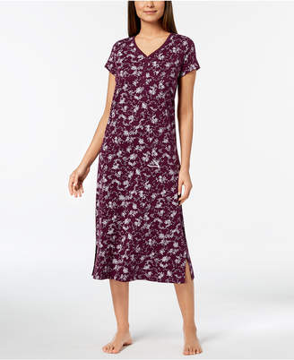 Charter Club Rose-Print Picot-Trim Nightgown, Created for Macy's