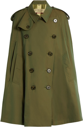 BURBERRY Point-collar cotton double-breasted cape $1,265 thestylecure.com