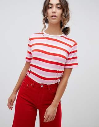 Warehouse Rainbow Stripe T-Shirt
