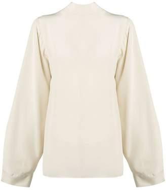 Cavallini Erika back bow tie blouse