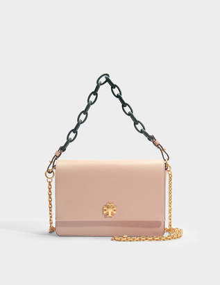 Tory Burch Kira Shoulder Bag in Perfect Sand and Green Danubio Soft