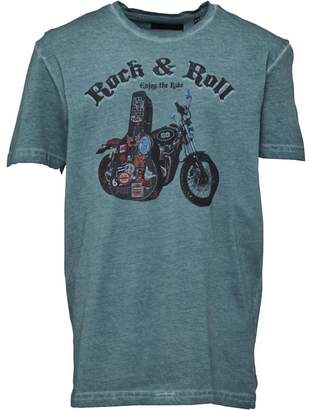 Brave Soul Junior Boys Trip Graphic T-Shirt Washed Green