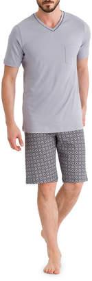 Hanro Floris Short Sleeve Pajama Set