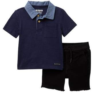 Hudson Cotton Slub Jersey Tee & Shorts (Baby Boys)