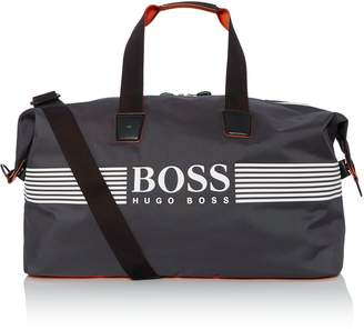 HUGO BOSS Pixel Logo Nylon Holdall