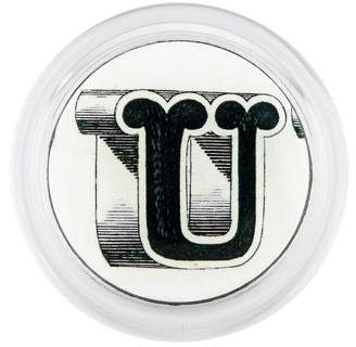 John Derian Printed Typography Coaster