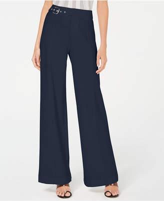 INC International Concepts I.n.c. Side-Belt Wide-Leg Pants
