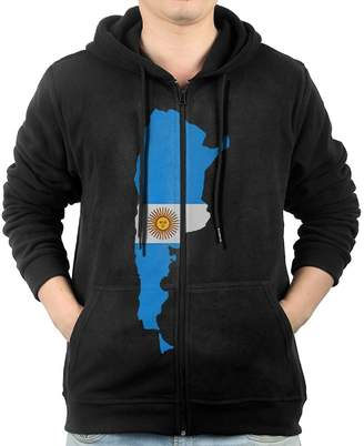 Dressmaka Flag Of Argentina Sweater Shirt Zipper Jacket Sun Hooded Sweatshirt For Mens Fit Golf