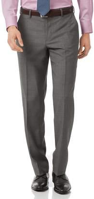 Charles Tyrwhitt Grey Classic Fit Jaspe Business Suit Wool Pants Size W32 L38