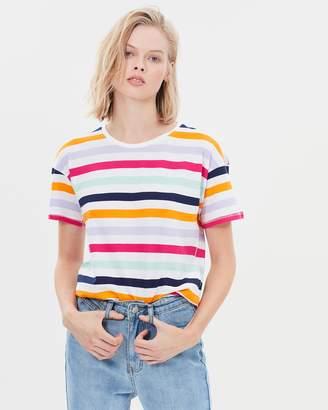 Warehouse Lurex Rainbow Stripe Tee