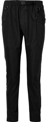 Nike Matthew Williams Paneled Stretch And Shell Slim-leg Pants - Black