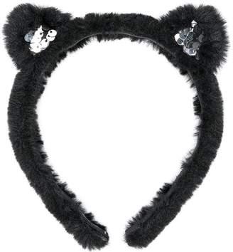 Karl Lagerfeld cat ears headband