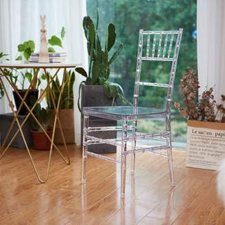 Warehouse of Tiffany Nina Clear Acrylic Dining Chair set of 2