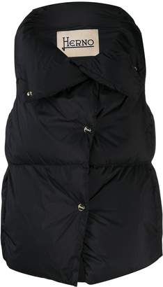 Herno quilted oversized collar gilet