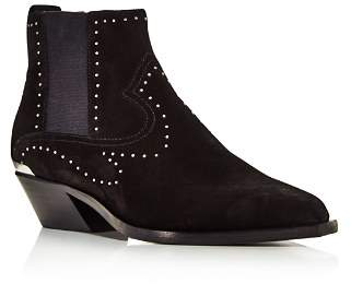 Rag & Bone Women's Westin Pointed-Toe Studded Suede Low-Heel Booties