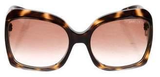 Jimmy Choo Tortoiseshell Square Sunglasses