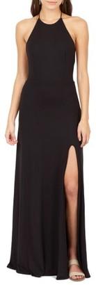 Women's Delacy Nikki Halter Maxi Dress $124 thestylecure.com