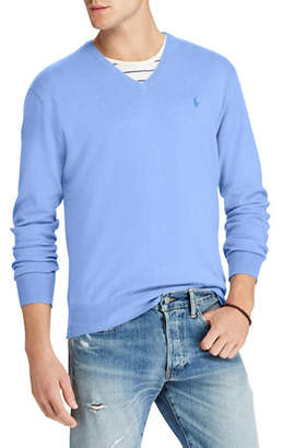 Polo Ralph Lauren Big and Tall Cotton V-Neck Sweater