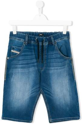 Diesel knee length denim shorts