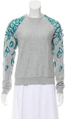 Giamba Embroidered Crew Neck Sweater