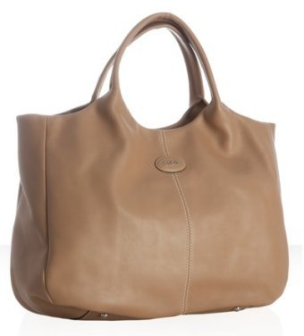 Tod's Tod's beige leather '24H Shopping' media tote