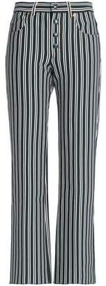 Sonia Rykiel Striped Cotton-Blend Striaght-Leg Pants