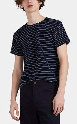 Ralph Lauren RRL Men's Striped Slub Cotton Jersey T-Shirt - Dk. Blue
