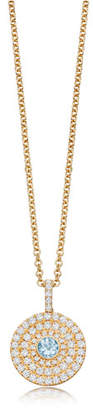 Kiki McDonough Fantasy 18K Gold Pendant Necklace with Blue Topaz & Diamonds