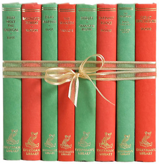 One Kings Lane Vintage Vintage Book Gift Set: Red & Green - Set of 8 - Booth & Williams