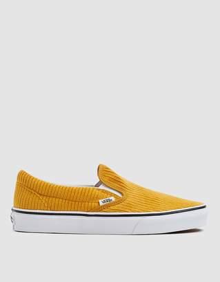 Vans Corduroy Slip-On Design Assembly Sneaker in Sunflower