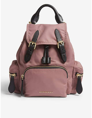 Burberry Shell and leather backpack