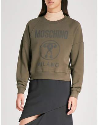 Moschino Logo-print cotton-jersey sweatshirt