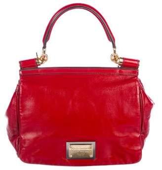 Dolce & Gabbana Patent Miss Sicily Handle Bag