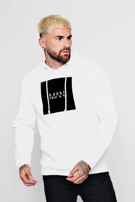 boohoo Original Man Flock Box Over The Head Hoodie