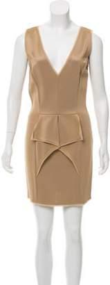 Fendi Ruffled Mini Dress Beige Ruffled Mini Dress