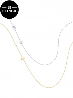 Maya Brenner Asymmetrical Character and Charm Necklace $240 thestylecure.com