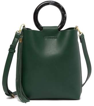 Street Level Suede Tassel Crossbody Bag