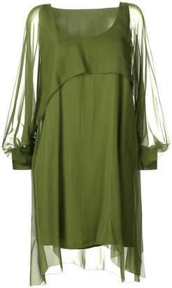 Alberta Ferretti sheer layered dress